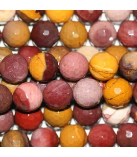 Mookaite Faceted Round Beads 12mm -Strand 40cm- Item.3652
