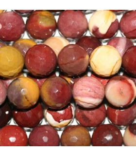 Mookaite Faceted Round Beads 14mm -Strand 40cm- Item.3642