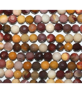 Mookaite Faceted Round Beads 6mm.-Strand 40cm.-Item.5780