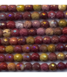 Mookaite Faceted Round Beads 8mm -Strand 40cm- Item.2357