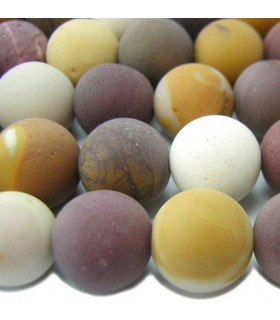 Mookaite Matte Finish Round Beads 12mm.-Strand 40cm.-Item.6442