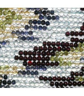 Multi Stone Round Beads 4mm.-Strand 38cm.-Item.5147