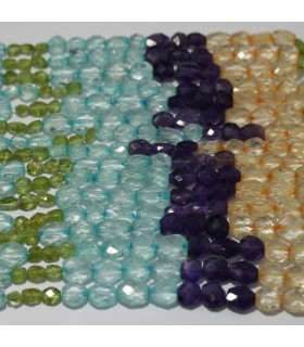 Multi Stone Faceted Oval 9x7mm.Approx.-Strand 37cm.-Item.3790