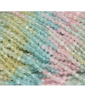 Multi Beryl Round Beads 3-4mm.-Strand 37cm.-Item.4963