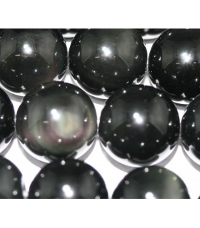 Obsidian Round Beads 16mm.-Strand 40cm.-Item.4812