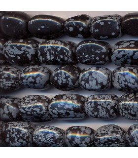 Obsidian Nugget 19x14mm. Approx -Strand 40cm- Item.1590