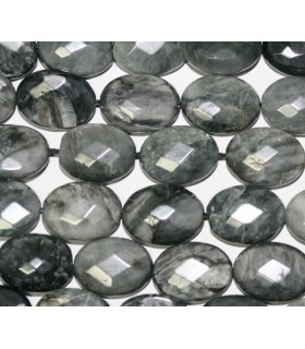 Hawk Eye Faceted Oval 16x12mm.-Strand 40cm.-Item.4444