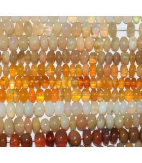Opalo Amarillo Rodaja Lisa En Degrade 3x2-6x4mm.Aprox.-Hilo 42cm.-Ref.5546