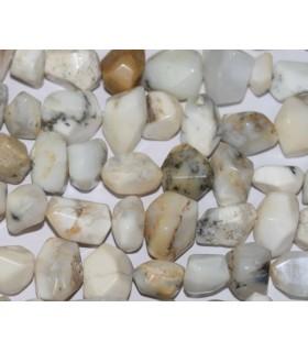 Opalo Blanco Nugget 20x16mm.Aprox.Hilo 40cm.Ref.3706
