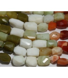 Assorted Opal Faceted Nugget 11x7mm.-Strand 20cm.-Item.3040