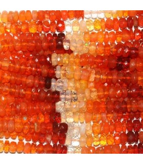 Fire Opal Faceted Rondelle 5x3mm -Strand 40cm- Item.3760