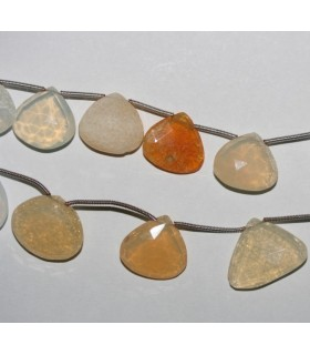 Fire Opal Faceted Drop 16mm.-Strand 20cm.-Item.7253