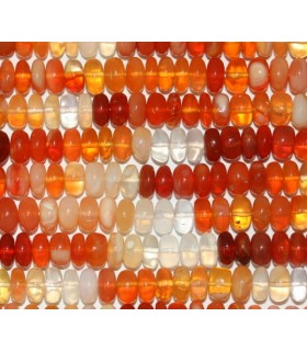 Fire Opal Smooth Rondelle 7x4mm.-Strand 35mm.-Item.5545