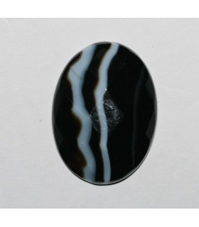 Cabujón Onix Bandeado Oval Facetado ( 2 Piezas ) 30x22mm.-Ref.343CB