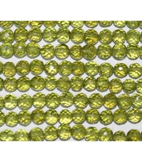 Peridot Faceted Round Beads 4-5mm -Strand 34cm- Item.3331