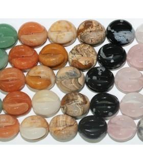 Piedras Varias Bola Lisa Desmontable 18mm.-Hilo 40cm.-Ref.5619