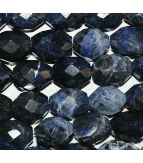 Sodalite Faceted Barrel 20x15mm.-Strand 40cm.-Item.7552