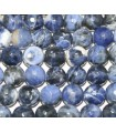 Sodalite Faceted Round Beads 10mm.-Strand 40cm.-Item.4442
