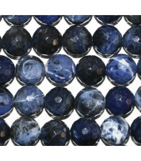 Sodalite Faceted Round Beads 12mm.-Strand 40cm.-Item.7553