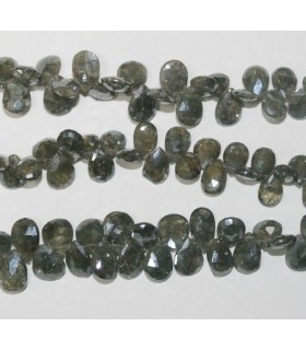 Salmonite Faceted Drop 10x7mm.-Strand 20cm.-Item.6250