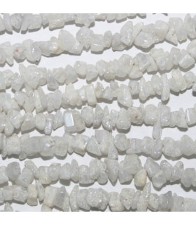 White Silverite Chips 4x3mm.-Strand 38cm.-Item.7269