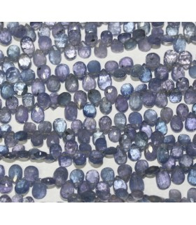 Tanzanite Faceted Drop 6x4mm. -Strand 22cm. -Item.4354