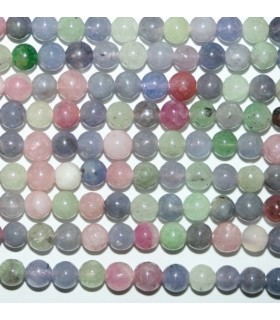 Multicolor Tanzanite Round Beads 4mm.-Strand 40cm.-Item.7023