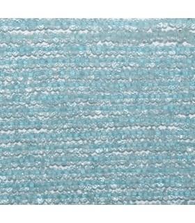 Topacio Azul Rodaja Facetada 2.5x1.5mm.-Hilo 36cm.-Ref.8428