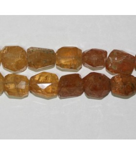 Imperial Topaz Faceted Nugget 10x7mm.-Strand 22mm.-Item.5506