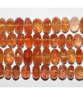 Imperial Topaz Faceted Rondelle 9x6mm.-Strand 38mm.-Item.7276