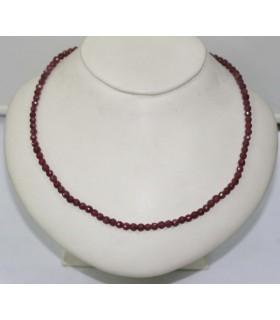 Collar Rubi Bola Facetada 4mm.-Ref.4473