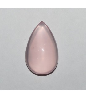 Cuarzo Rosa Gota Lisa ( 31.7 CT ) 28x18mm.-Ref.7948