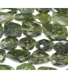 Vesuvianite Graduated Faceted Oval 14x11/24x15mm. Approx.-Strand 37cm.-Item.4953