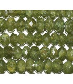 Vesuvianite Faceted Rondelle 10x7mm.-Strand 37cm.-Item.5478