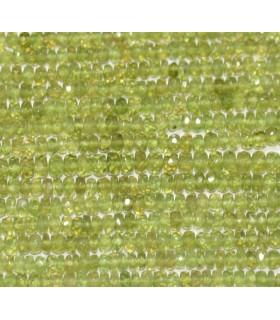 Vesuvianite Faceted Rondelle 3x2mm.-Strand 37cm.-Item.3764