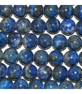 Lapis Lazuli Round Beads 10mm. Drilled 2.50mm -Strand 40cm- Item.2962