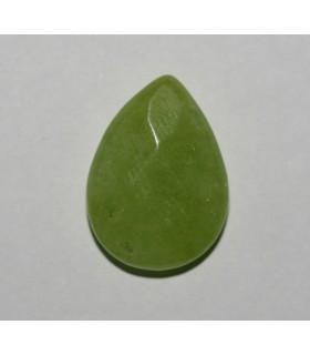 Cuarzo Verde Gota Facetada 20x15mm.( 10 Unidades )-Ref.378CB