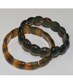 Fluorite Rectangular Bracelet 17x123mm. -Item.1287