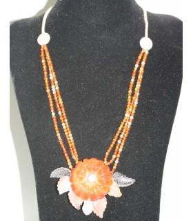 Collar Carneola Flor Ref.6056