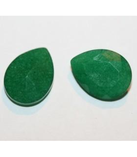 Jade Verde Gota Facetado 16x12mm.( Precio Por 6 Unidades )-Ref.7420