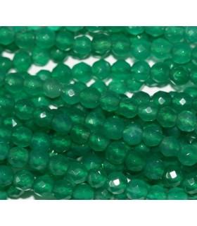 Aventurina Verde Bola Facetada 4mm -Hilo 40cm- Ref.3344