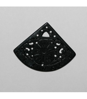 Black Jade Pendant 33x43mm.-Item.940JN