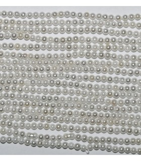 Shell Pearl Round 2mm Strand 40cm.- Item. 2576