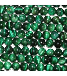 Ojo De Tigre Verde Bola Lisa 8mm.-Hilo 39cm.-Ref.9011