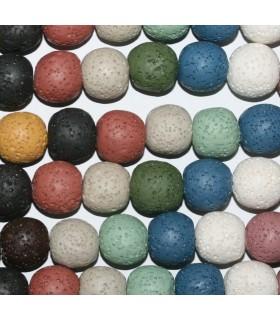 Lava Multicolor Bola 13-14mm.-Hilo 39cm.-Ref.9032