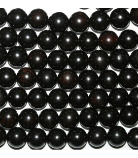 Ebony Mala Round Beads 10mm.-Strand 108cm.-Item.9058