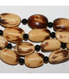 Seed Nugget 22x16mm.Approx.-Strand 48cm.-Item.9066