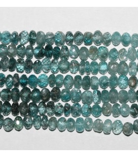 Blue Zircon Faceted Rondelle 5x3mm.-Strand 36cm.-Item.9206