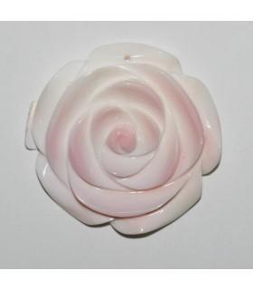 Colgante Concha Rosa Natural Hoja 40mm.-Ref.9265