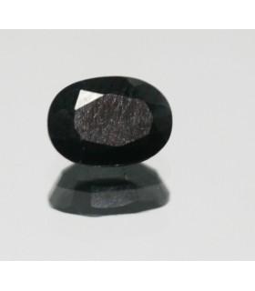 Zafiro Negro Oval Facetado 1 c.t.7x5mm.-Ref.5210
